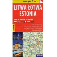 Mapy i atlasy turystyczne, Praca zbiorowa. Litwa, Łotwa, Estonia. Mapa samochodowa 1:700 000 (papierowa) (opr. miękka)