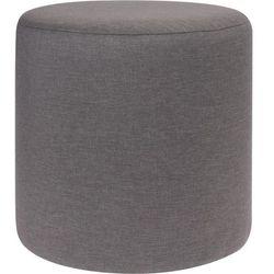 Pufa bawełniana, siedzisko, podnóżek, ciemnoszary - 35 x 35 cm