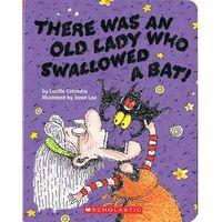 Książki dla dzieci, There was an Lady who swallowed a bat (twarda oprawa)
