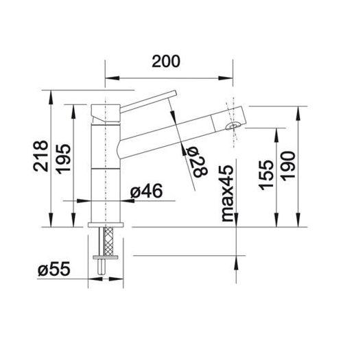 Baterie do kuchni, Bateria Blanco Alta -f compact 518412