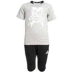 adidas Performance SET Dres mid grey heather/white