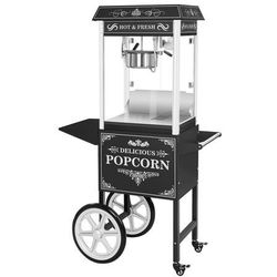 Maszyna do popcornu - wózek - czarna