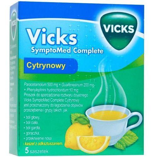 Leki na przeziębienie i grypę, VICKS SYMPTOMED COMPLETE SASZETKI O SMAKU CYTRYNOWYM