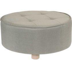 Pufa bawełniana, siedzisko, podnóżek, beżowy - 52 x 22 cm