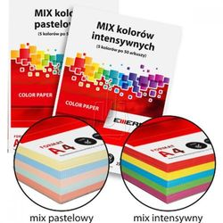 Papier kolorowy MIX A4/80g 5 kol. intensywne