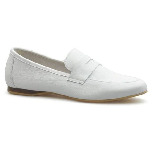 Półbuty damskie, Mokasyny CheBello 2427-154 Białe lico