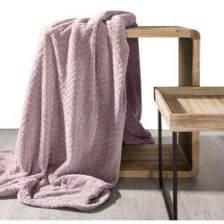 Koc narzuta na fotel CINDY 70x160 pudrowy