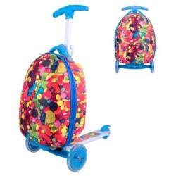 Hulajnoga trójkołowa z plecakiem dla dzieci WORKER Lagy - cukierkowy