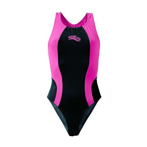 Stroje kąpielowe dziecięce, Strój kąpielowy bonprix czarno-różowy
