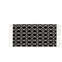Dywan LUCIA w stylu berberyjskim — 100% bawełny — 60 × 120 cm — czarno-biały