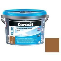 Fuga cementowa WODOODPORNA CE40 brązowy 2 kg CERESIT