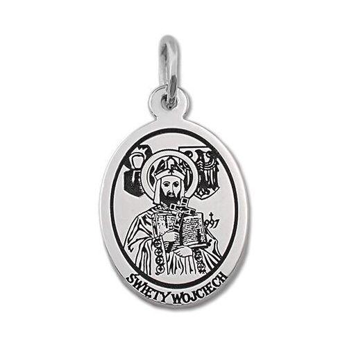 Pozostała biżuteria, Medalik srebrny z wizerunkiem sw. wojciecha med-woj-01
