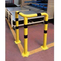 Barierka do ochrony narożników kątowa 3-nożna - żółto-czarna