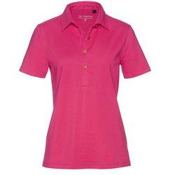 Shirt polo bonprix ciemnoróżowy
