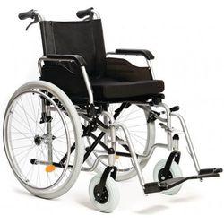 Wózek inwalidzki ręczny z hamulcami dla opiekuna