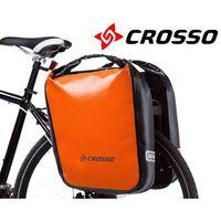Sakwy, torby i plecaki rowerowe, CO1009.60.84 Sakwy rowerowe Crosso DRY BIG 60l Pomarańczowe zestaw na tył