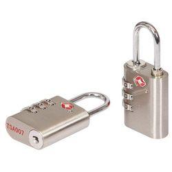 Kłódka szyfrowa Smith and Locke TSA aluminium 30 mm 2 szt.