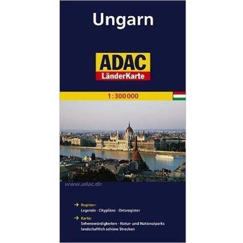 Mapy i atlasy turystyczne, Maďarsko/mapa 1:300T ADAC Jenny Broomová (opr. broszurowa)