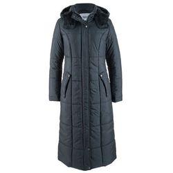 Lekki, długi płaszcz pikowany bonprix ciemny niebieski