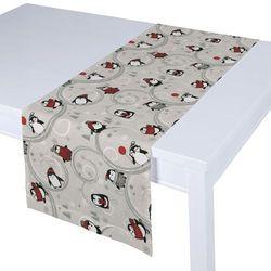 Dekoria Bieżnik prostokątny, zabawne pingwiny na szarym tle, 40x130 cm, Christmas