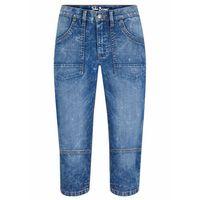 Spodnie dziecięce, Spodnie Slim Fit z zagnieceniami bonprix ciemnoszmaragdowy