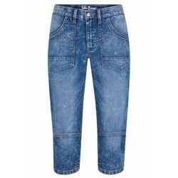 Spodnie Slim Fit z zagnieceniami bonprix ciemnoszmaragdowy