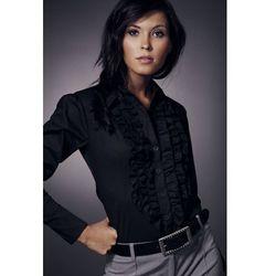 Nife Koszula z żabotem długi rękaw - czarny - K01