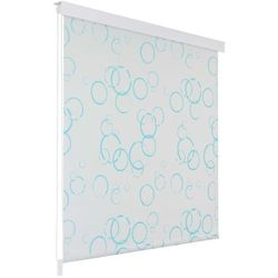 Roleta prysznicowa 100 x 240 cm, wzór w bąbelki