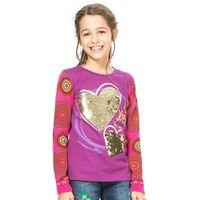 Koszulki z krótkim rękawkiem dziecięce, Desigual T-shirt dziewczęcy 104 wielokolorowy - BEZPŁATNY ODBIÓR: WROCŁAW!