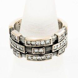 Złoty pierścionek z diamentami P1625