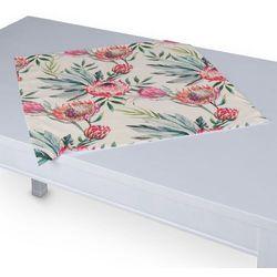 Dekoria Serweta 60x60 cm, różowe kwiaty na kremowym tle, 60 x 60 cm, New Art