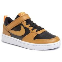 Obuwie sportowe dziecięce, Buty NIKE - Court Borough Low 2 (Psv) BQ5451 004 Black/Wheat/Orange Pulse/White