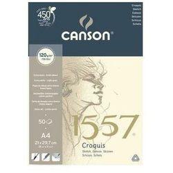 Blok szkicowy CANSON A4 120g. 50k. 1557