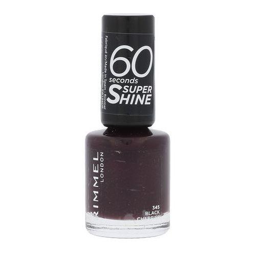 Lakiery do paznokci, Rimmel London 60 Seconds Super Shine lakier do paznokci 8 ml dla kobiet 345 Black Cherries