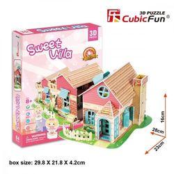 Puzzle 3D Sweet Villa Domek dla lalek 84 elementy