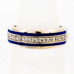 Złoty pierścionek z diamentami P1537
