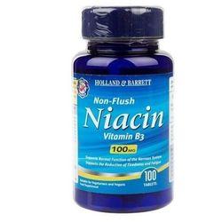 Holland & Barrett Niacyna niepłukana, 100 mg - 100 tabletek