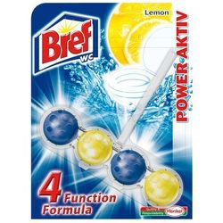 Zawieszka do muszli WC Bref WC Power Aktiv Lemon 50 g