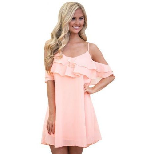 Suknie i sukienki, Sukienka Kayla pudrowy róż M