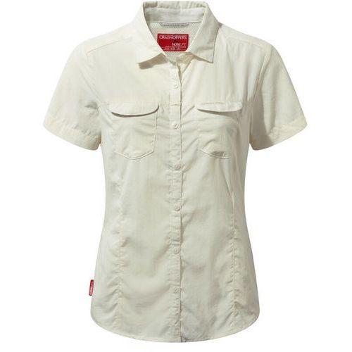 Bluzki, Craghoppers NosiLife Adventure II Bluzka z krótkim rękawem Kobiety, sea salt UK 8   XS 2020 Koszule Button Down z krókim rękawem