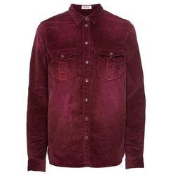 Koszula sztruksowa bonprix czerwony klonowy