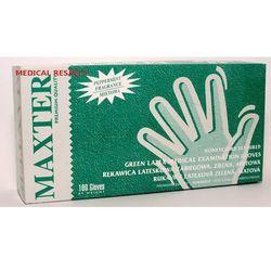Rękawice lateksowe pudrowane MIĘTOWE Maxter a 100szt. L