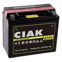 Akumulatory do motocykli, Akumulator motocyklowy CIAK YTX20L-BS 12V 18Ah 270A P+