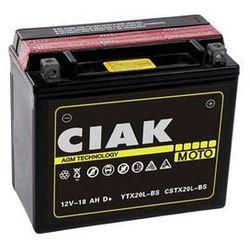 Akumulator motocyklowy CIAK YTX20L-BS 12V 18Ah 270A P+