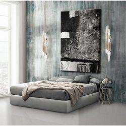 Obrazy nowoczesne - strukturalna abstrakcja - srebrne kontrasty rabat 15%