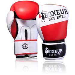 Rękawice bokserskie BOXEUR BXT-591 Czerwono-biały (10 oz)