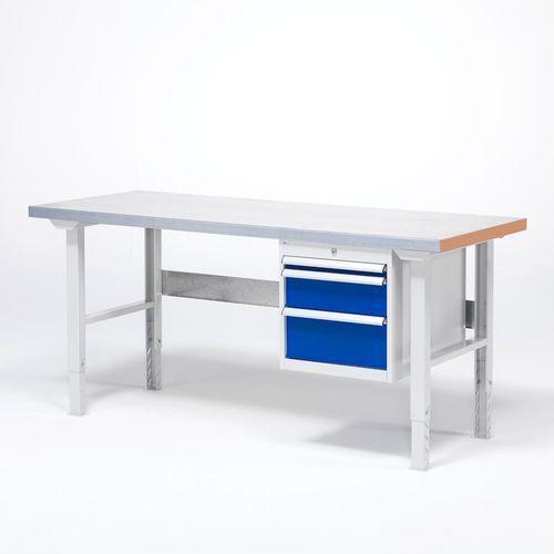 Stoły warsztatowe, Stół warsztatowy SOLID, z 3 szufladami, 500 kg, 1500x800 mm, stal