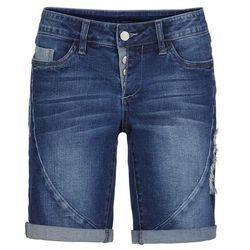 Szorty dżinsowe bonprix niebieski