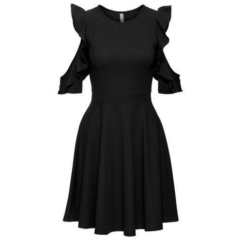 Suknie i sukienki, Sukienka z falbanami bonprix czarny