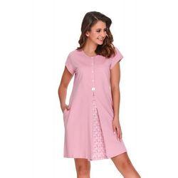 Bawełniana koszula nocna damska Dn-nightwear TCB.9703 różowa